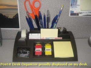 Desktop Organizer proudly on my desk