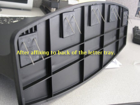 Effectively Utilize Your Cubicle Walls With A Hanging Letter Tray