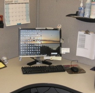 Open Up Desk Space With A Computer Monitor Wall Mount