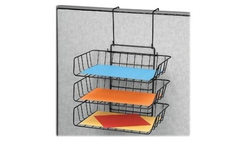 Hanging wire paper tray