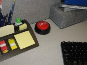 Cubicle with No Button Close Up