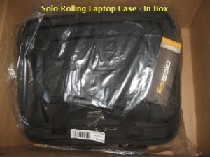 Rolling Laptop Case - In Box