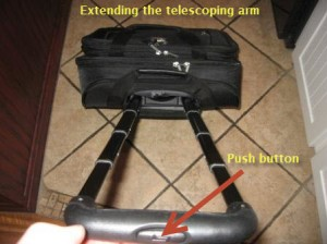 Rolling Laptop Case - Telescoping Arm