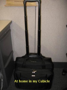 Rolling Laptop Case - In Cubicle