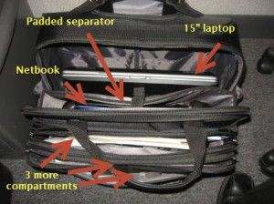 Rolling Laptop Case - Compartments