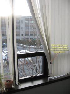 Binder Clips to Secure Blinds