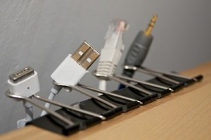 Binder Clips for Cord Management