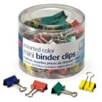 OfficemateOIC Assorted Color Mini Binder Clips