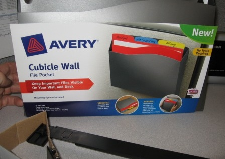 A Cubicle Wall Pocket Will Keep Your Project Folders Close