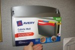 Avery Cubicle Wall File Pocket fits into pegs on hanging bar.
