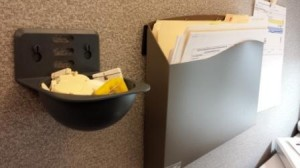 Hanging next to my Cubicle Wall Pocket.