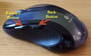 Logitech Wireless Mouse M510 on side