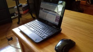 Using Logitech Wireless Mouse m225 at home with netbook
