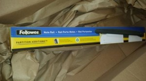 Note Rail in Amazon Box