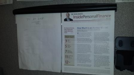 Note Rail on my Cubicle Wall!