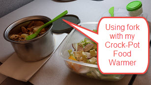With the Crock-Pot food warmer