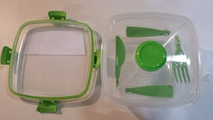 Food container with top off