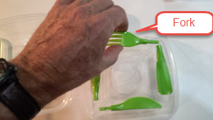 Salad fork in two pieces