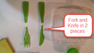 Cutlery disassembled