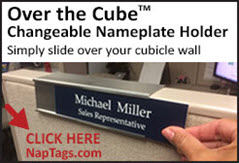 Over the Cube Nameplate Holder