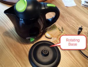 Kettle and separate rotating base
