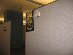 Dull Grey Cubicle Wall