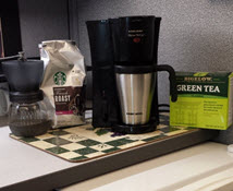 http://cubiclebliss.com/tips-create-a-coffee-and-tea-corner-in-your-office-cubicle/
