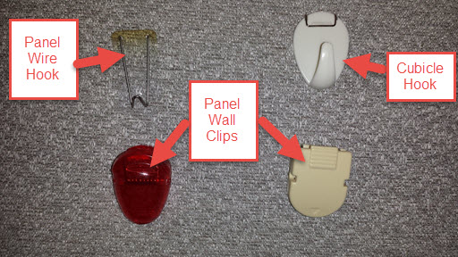Cubicle Hook, Panel Wire Hook, and Panel Wall Clips