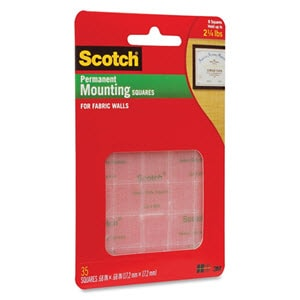 Scotch Mounting Squares for Fabric Walls