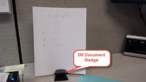 Document Wedge used with a single sheet of paper
