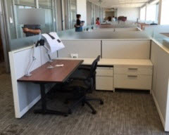 Lower-walled cubicle