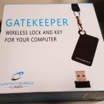 "GateKeeper arrives in a 4"" square box."