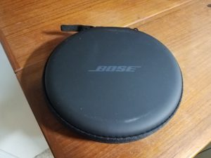 Bose QC30 case zippered shut