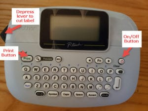 Label Maker with key buttons labelled