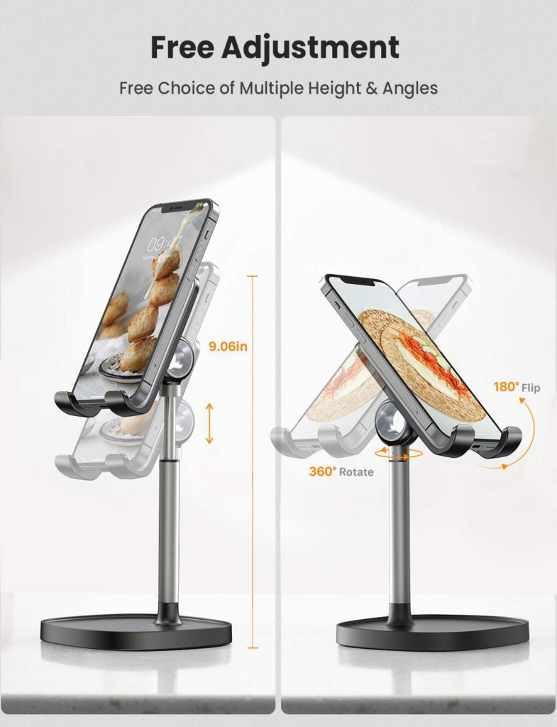 Desktop Phone Stand Movability